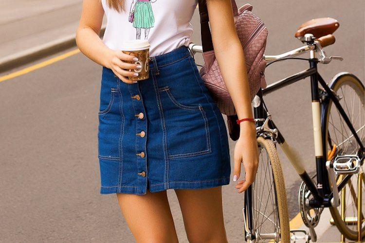 5 Ways To Wear: Denim Skirts