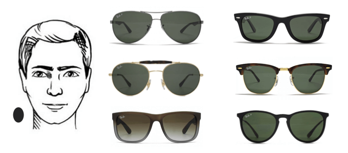 ray ban sunglasses for round face male