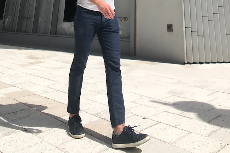 How To Wear: Navy Chinos