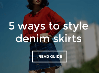 Women's Denim Skirts Style Guide