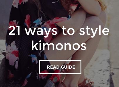 21 Ways To Style A Kimono